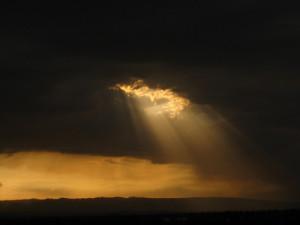 spiragli di sole nel cielo